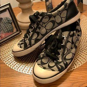 Coach black Barrette Iconic sneakers.